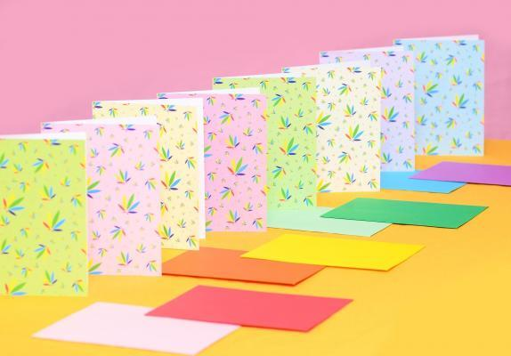Colorleaf Pattern Greeting Cards