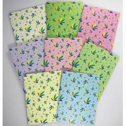 Colorleaf Pattern Set of 8 Greeting cards, note cards