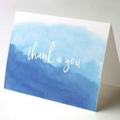 Cannabis Thank You Note, Thank You Watercolor Horizon, cannabis thank you cards, cannabis greeting cards potography watercolor horizon recycled thank you cards