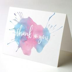 Thank You Greeting Card, Thank You Watercolor Splash 1, cannabis thank you cards, cannabis greeting cards potography watercolor splash 1 recycled thank you cards
