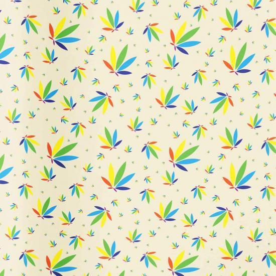 Cream Gift Wrap, Cream Colorleaf Gift Wrap, cannabis gift wrap, cannabis wrapping paper, cream potography gift wrap colorleaf pattern mockup