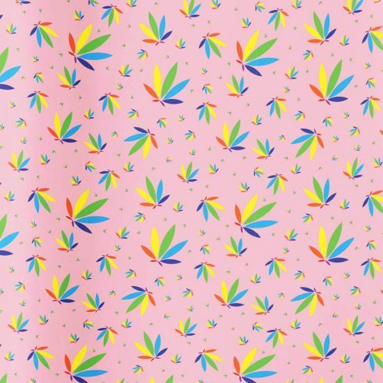 Pastel Pink Gift Wrap, Pastel Pink Colorleaf Gift Wrap, cannabis gift wrap, cannabis wrapping paper, pastel pink potography gift wrap colorleaf pattern mockup