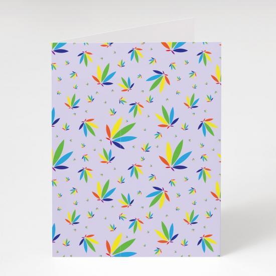 Lilac Greeting Card, Lilac Colorleaf Pattern Card, cannabis greeting cards, recycled greeting cards, lilac colorleaf pattern potography cannabis art greeting card