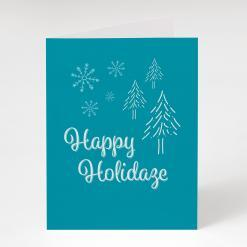 Happy Holidaze Snowflake Greeting Card, cannabis greeting cards, happy holidaze snowflake potography cannabis art holiday cards