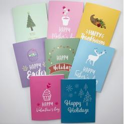 Cannabis Holiday Celebration Cards, cannabis greeting cards, recycled greeting cards, holiday celebration set of 8 cannabis holiday cards by potography