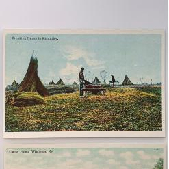 hemp farm postcards, historic hemp postcard 2 breaking-hemp-in-kentucky-product-image